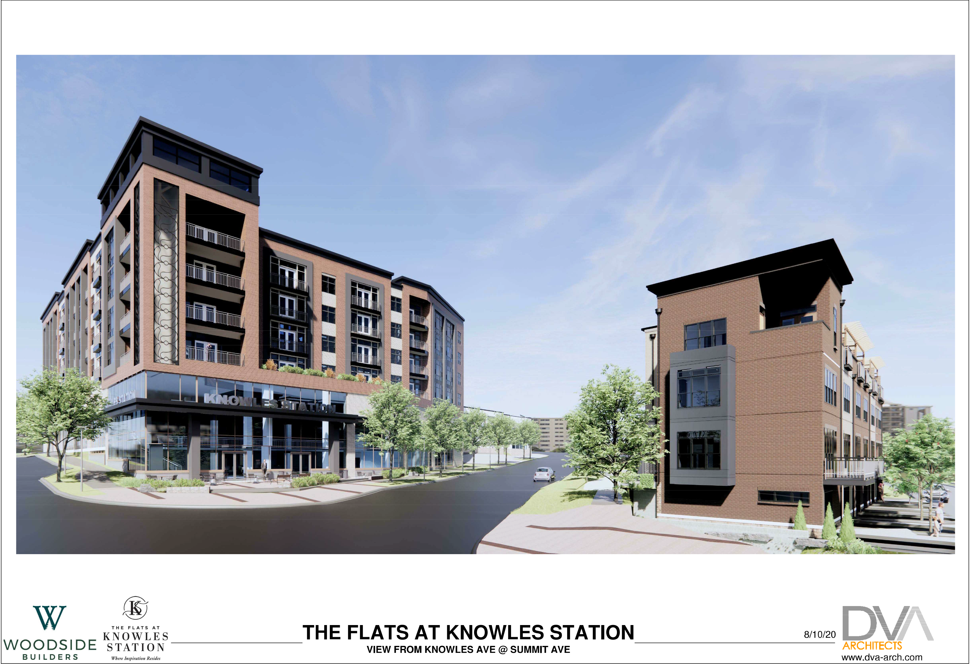Residences At Knowles Station 3D Render